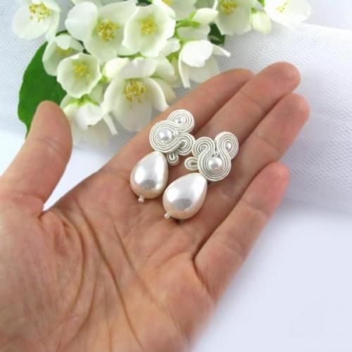 Delikatne, ślubne sztyfty z perłami