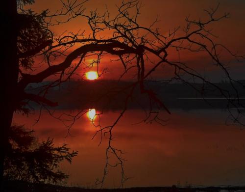 ...na dobranoc: kolorowych snów, pod warunkiem, że wszystkie kolory będą czarne i czerwone #zachód #sunset