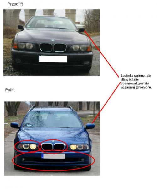 Bmw Z Forum: BMW E39 Lifting, Różnice