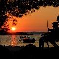 ławeczka #słońca #zachód #chorwacja #jezioro #słońce #zwiedzanie #podróże #woda