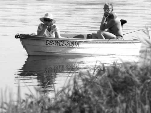 #jezioro #ludzie #łódka #woda