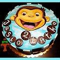 Tort Ciekawski George #CiekawskiGeorge #małpka #tort #TortUrodzinowy #TortyKraków #TortyWalentynki #urodziny