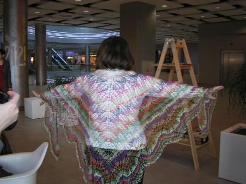haruni shawl / druty/ wełna jedwabna noro #rękodzieło #chusta #druty